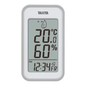 TANITA(タニタ) デジタル温湿度計 TT-559-GY グレー (掛け置き両用)ひと目で部屋の...