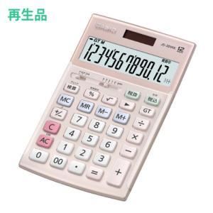 (メーカー再生品)カシオ 本格実務電卓 JS-20WK-PK-N ピンク [12桁][CASIO](メール便不可)|homeshop