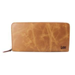(長財布) Lee (リー)メンズ  ラウンドファスナー 0520367 ブラウン 財布|homeshop