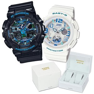 【ペア箱入りセット】 CASIO(カシオ) 【腕時計】 GA-100CB-1AJF Gショック & BGA-190-7BJF ベビーG 専用ペア箱セット 【ペアウォッチ】 homeshop