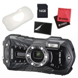 (ジャケット付5点セット)リコー RICOH WG-50 ブラック 防水・防塵・耐衝撃・防寒 デジタルカメラ(メール便不可) homeshop