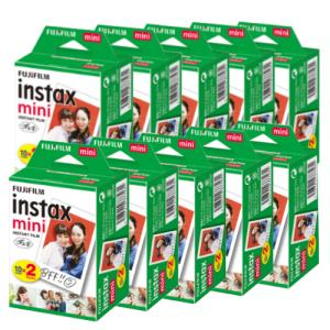 富士フィルム チェキフィルム instax mini 2パック品 JP2(20枚入り)×10個セット...