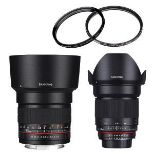 キヤノンEF用 単焦点 レンズ 85mm F1.4 サムヤン&24mm F1.4&レンズフィルター ...