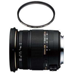 【レンズ保護フィルター付!】 シグマ(SIGMA) 大口径標準ズームレンズ 17-50mm F2.8 EX DC OS HSM 【ニコン用】【メール便不可】