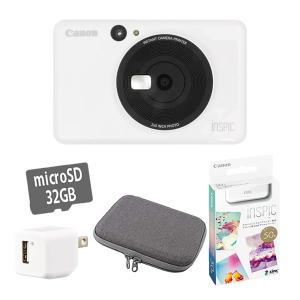 (フォト用紙50枚&microSD&アダプター付き)キヤノン インスタントカメラプリンター iNSP...