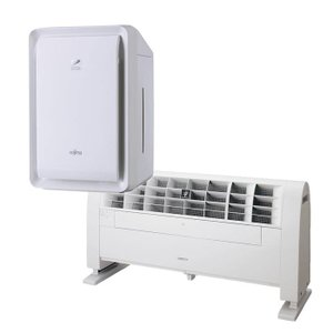 (セット)(業務用プラズマクラスターイオン発生器) シャープ IG-501YA ホワイト & 富士通ゼネラル 脱臭機 DAS-303E-W(メール便不可)|homeshop