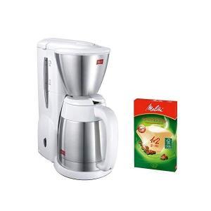 (ペーパーフィルターセット)メリタ(Melitta) コーヒーメーカー ノア NOAR SKT54-3-W ホワイト (2〜5杯用)(ペーパードリップ式)(SKT543W)(メール便不可)|homeshop