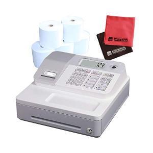 (ロール紙5巻&クロスセット)カシオ SE-G1-WE ホワイト 電子レジスター (4部門 サーマルプリンタ LCD表示)(メール便不可)|homeshop