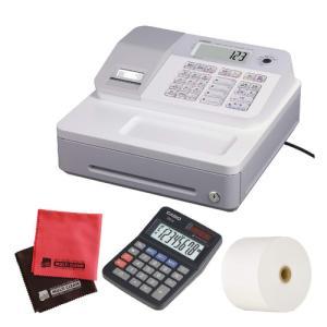 (ロール紙5巻&ミニ電卓セット)カシオ SE-G1-WE ホワイト 電子レジスター (4部門 サーマルプリンタ LCD表示)(メール便不可)|homeshop