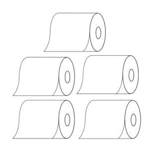 (お買得な5巻セット)(高品質日本製)日本製感熱レジロール紙(58mm×70mm×12mm)(メール便不可)|homeshop