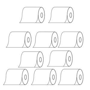 (お買得な10巻セット)(高品質日本製)日本製 感熱レジロール紙(58mm×70mm×12mm)×10巻(メール便不可)|homeshop