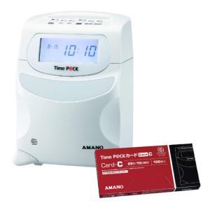 (タイムカード付)(TimeP@CKカードC)アマノ タイムレコーダー TimeP@CKIII 100&TimeP@CKカードCセット (タイムパック)(メール便不可)|homeshop