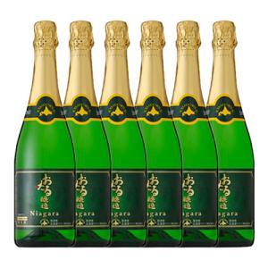(北海道ワイン)おたる ナイヤガラ スパークリング 720ml 6本セット スパークリングワイン / やや甘口 ナイアガラ(ラッピング不可)(ワインセット) homeshop