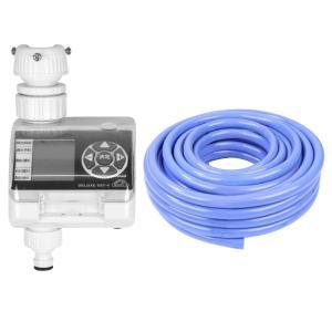 [ガーデン用品セット] 藤原産業 セフティ−3 散水タイマー デラックス SST-4 & セフティ−3 耐寒耐圧耐藻ホース 20m TTTH-1520 (メール便不可)
