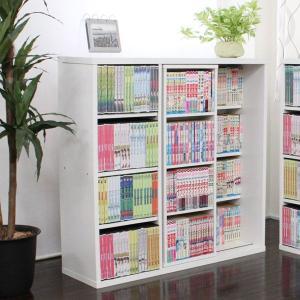 本棚 スライド式 スライド本棚 コミック スライド 書棚 DVD収納 DVD収納 DVDラック 薄型 大容量 北欧 おしゃれ 木製