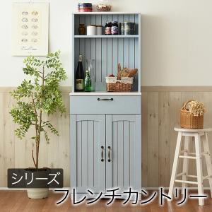 フレンチカントリー家具 カップボード 幅60 フレンチスタイル ブルー&ホワイト FFC006|homestyle