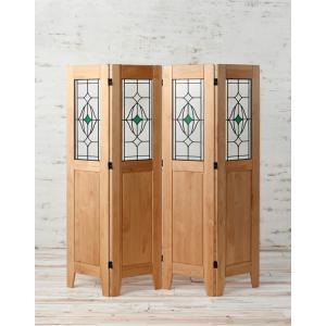 4連 衝立 木製 天然木 アルダー材 オイル仕上げ homestyle