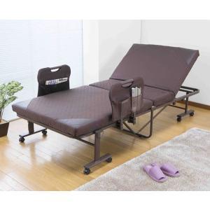 手すり付き折りたたみベッド(完成品)SA879 TS-100 homestyle