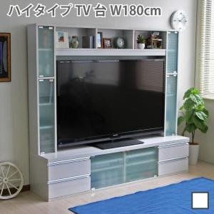 期間限定 テレビ台 ハイタイプ 鏡面 60インチ TV台 テレビラック ゲート型AVボード ホワイト J-Supply Ltd.(ジェイサプライ)の写真