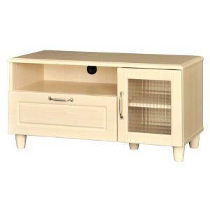 ホワイトナチュラル家具シリーズ ホワイトナチュラルローボード(90cm幅)|homestyle