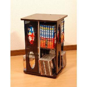 回転式タワーラック ROTATIVE CD/DVD TOWER 1段|homestyle