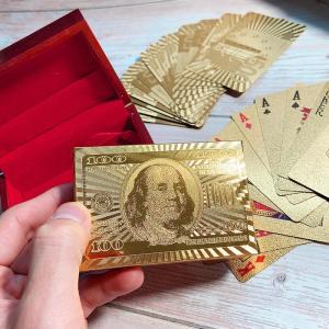 トランプ 防水 金のトランプ マジック フレックスカード マジック カードゲーム 洗える ダイヤモン...