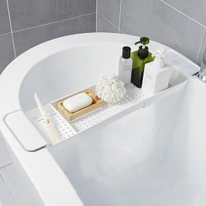 バスタブトレー バスタブラック 浴室用ラック お風呂テーブル バスラック 伸縮式 ズレ防止 大容量 ...