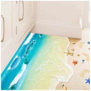 ウォールステッカー 海 ウォールペーパー 3d壁紙 ウォールシール 地面に綺麗な砂浜と海