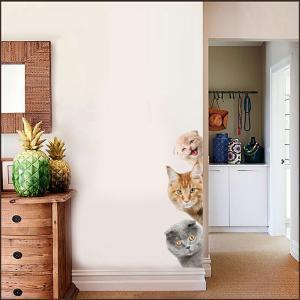 猫のヒョッコリ ウォールステッカー 猫雑貨 猫好き 貼って剥がせる ペットショップディスプレイ