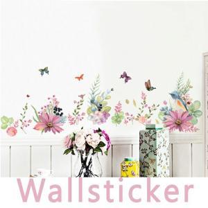 ウォールステッカー 花 木 植物 壁飾り 壁紙シール wallsticker 貼ってはがせる シール...