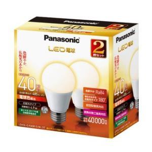LED電球 40W形相当  電球色 2個入 一般電球形 パナソニック EVERLEDS エバーレッズ LDA5LGK40ESW2T|hometec