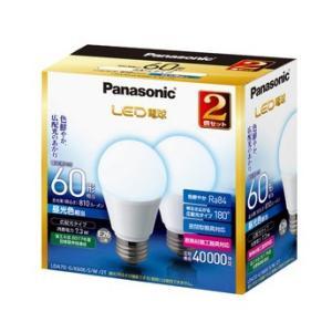 LED電球 60W形相当  昼光色 2個入 一般電球形 パナソニック EVERLEDS エバーレッズ LDA7DGK60ESW2T|hometec