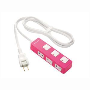 延長コード コンセントタップ スイッチ付き電源タップ 2m 3コ口 パナソニック WHS2523NP|hometec