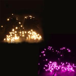 【送料無料】LEDイルミネーションライト  ストレート(ストリングス)ライト 20m  200球 防水[ゴールド/ピンク] HTILMS2|hometec
