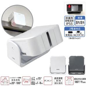 ワイヤレスチャイム 増設用 人感センサー送信機|hometec