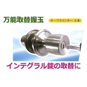 <<特別価格期間中>> アルミサッシで使用されている錠前の取替用握玉(ノブ)です。 既存の取付ケース...