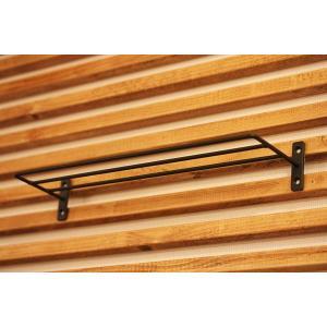 棚 にもなる便利な アイアン タオルハンガー タオル掛け や タオル置きにも ( ネジ 4本 付き ) ( 30cm )|homeworkslimited