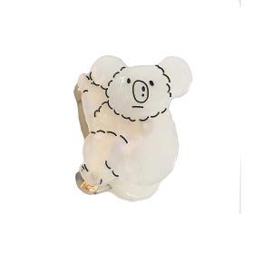 レーリーポップ バンスクリップ レディース ヘアクリップ カンガルー 玳瑁色 白色 大きめ シンプル 可愛い べっ甲風 クリップ ヘアアクセサリー お|homeyayafutenn