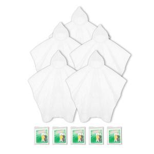 ポンチョ 使い捨て 5枚セット レインコート 雨具 ガッパ 緊急用 アウトドア 遊園地 通勤 通学 簡易 透明 男女兼用|homeyayafutenn