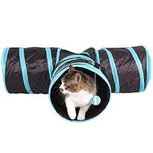 猫トンネル キャットトンネル ペットおもちゃ プレイトンネル 収納便利 折りたたみ式 3通付き ボールに付き ストレス解消 homeyayafutenn