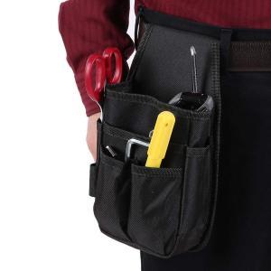 工具袋 道具袋 工具差し腰袋 電工用 仕切り付き 小物入れ 頑丈 耐久性|homeyayafutenn
