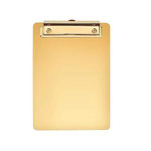クリップボード おしゃれ A5 オーガナイザー 9.84*7.09インチ ゴールド 440g|homeyayafutenn