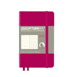 ロイヒトトゥルム 手帳 2020年 1月始まり A6 ウィークリー ソフト ベリー 359963 homeyayafutenn