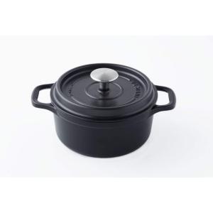 INVICTA アンヴィクタ ラウンドキャセロール 20cm ブラック|homeyayafutenn