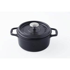 INVICTA アンヴィクタ ラウンドキャセロール 22cm ブラック|homeyayafutenn