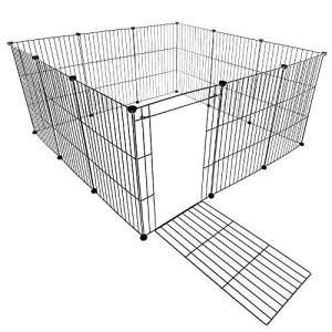 VENTOTA ペット用フェンス バリア ゲート ドア付 犬猫 メッシュ プレイサークル5070BK homeyayafutenn