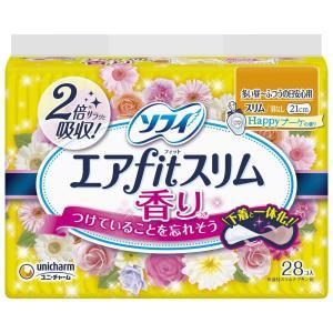ソフィ エアフィットスリム ハッピーブーケの香り 210 多い昼~ふつうの日用 21cm 28コ入 ...