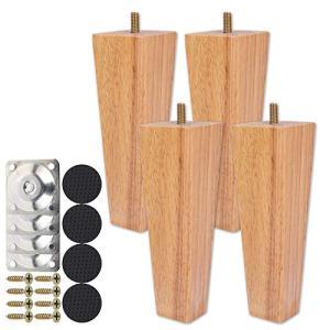 Steppiano 家具脚 4本セット テーブル脚 ソファ 脚 ソファ 足 家具パーツ 木製 diy 置き換え足 6cm、10cm、15cm (15c|homeyayafutenn
