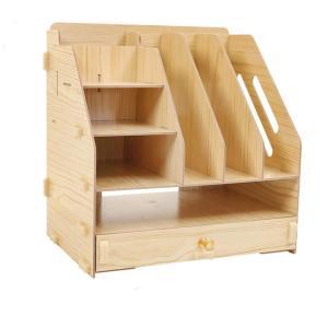 デスク上置棚 卓上収納ラック 本棚 勉強棚 木製 収納ボックス 書類周辺 収納力 homeyayafutenn