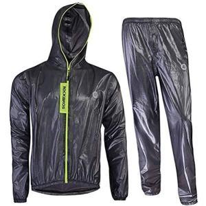 ROCKBROS(ロックブロス)サイクリング レインウェア メンズ レインコート 上下セット レインスーツ 隙間なし 通気 防水 軽量 着脱式合羽 収|homeyayafutenn
